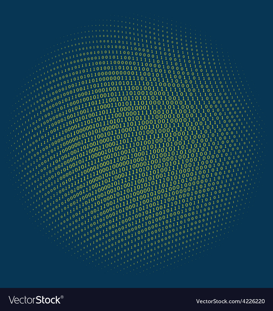 Binary code circle vector | Price: 1 Credit (USD $1)