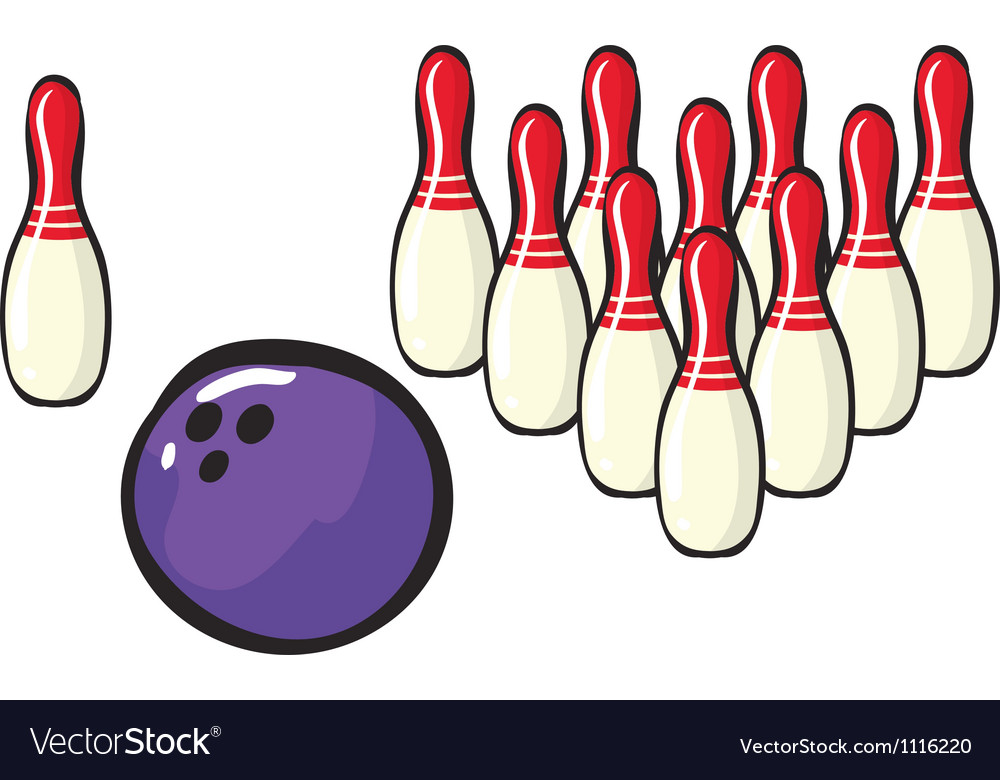 Bowling sport accessories vector | Price: 1 Credit (USD $1)