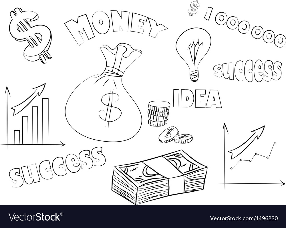 Business sketchy set vector | Price: 1 Credit (USD $1)