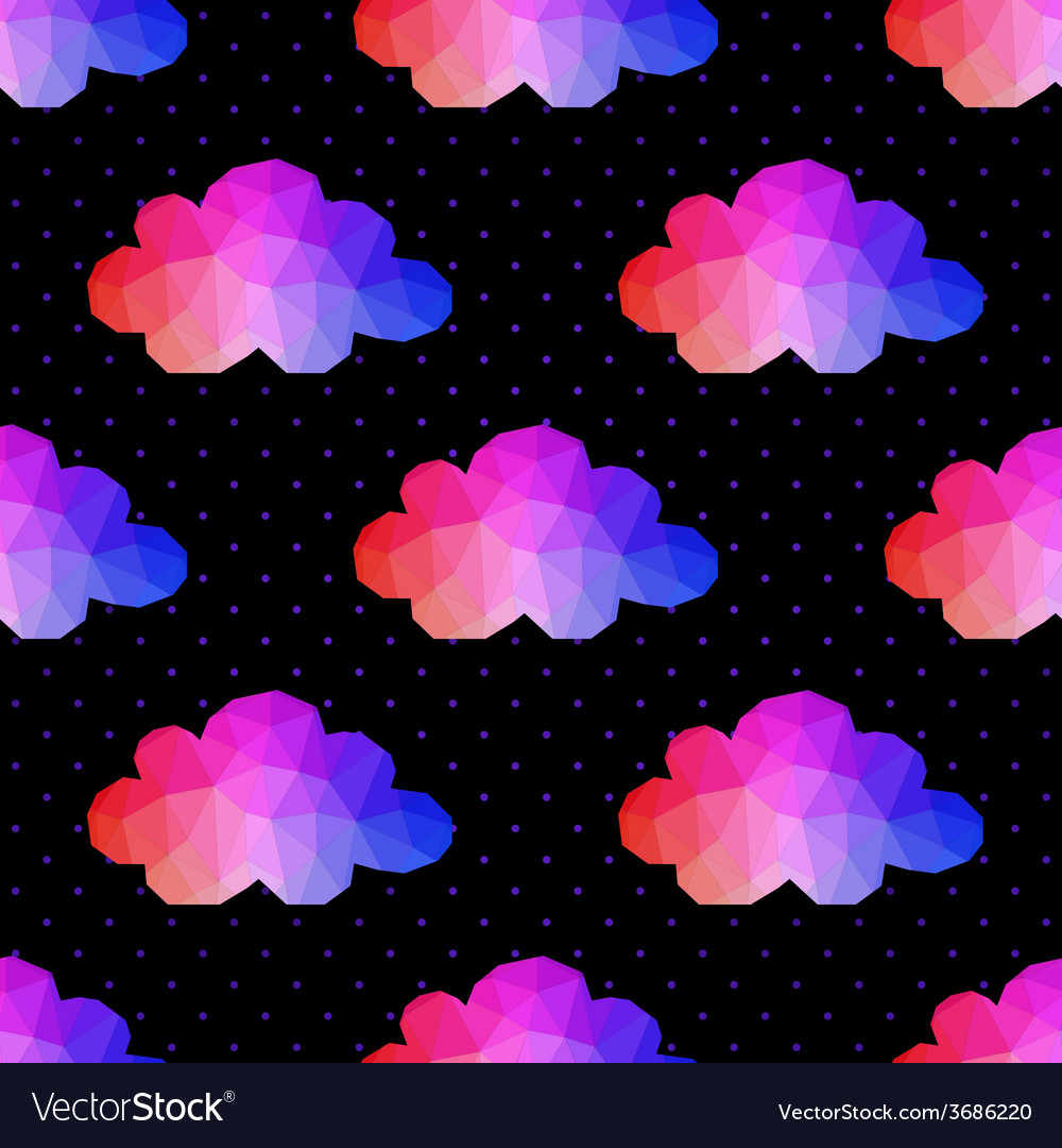 Cloud seamless pattern background made of vector | Price: 1 Credit (USD $1)