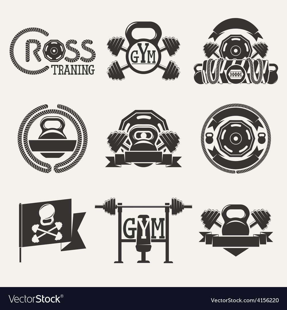 Cross fitness and gym logo vector | Price: 1 Credit (USD $1)
