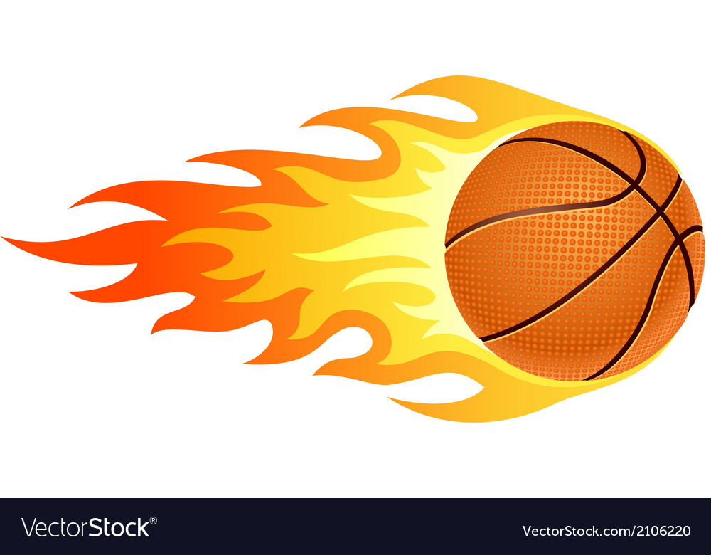 Flaming basketball vector | Price: 1 Credit (USD $1)
