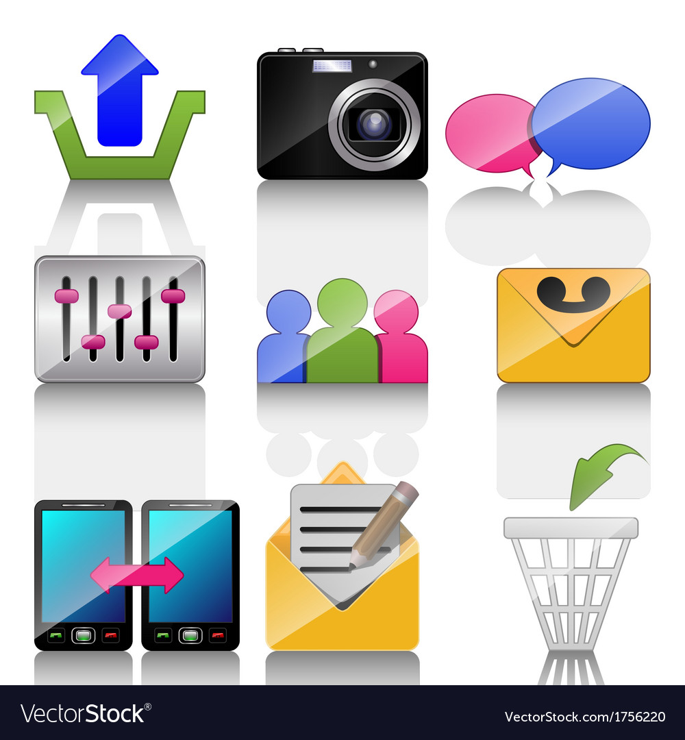 Icons for mobile phone vector | Price: 1 Credit (USD $1)