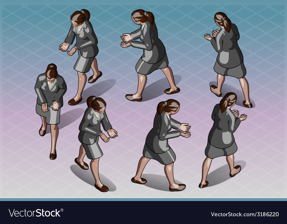 Isometric woman that transporting something vector | Price: 3 Credit (USD $3)