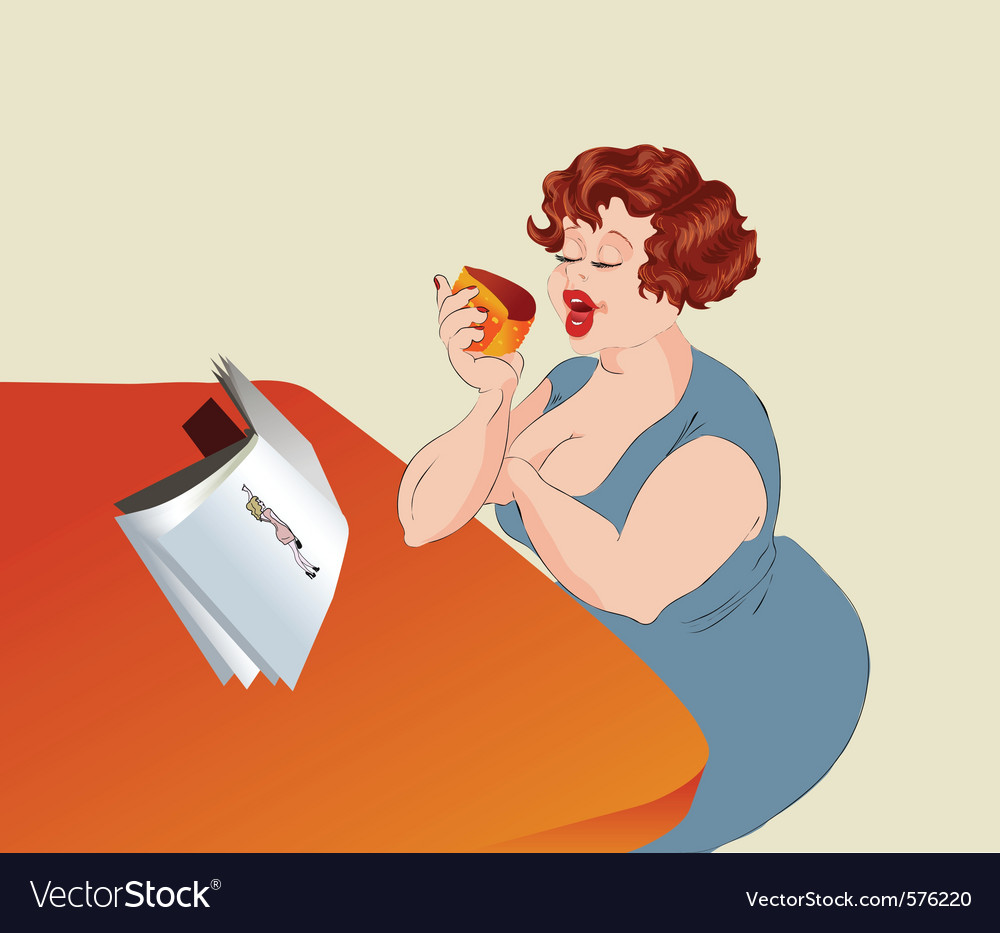 Overweight woman vector | Price: 1 Credit (USD $1)