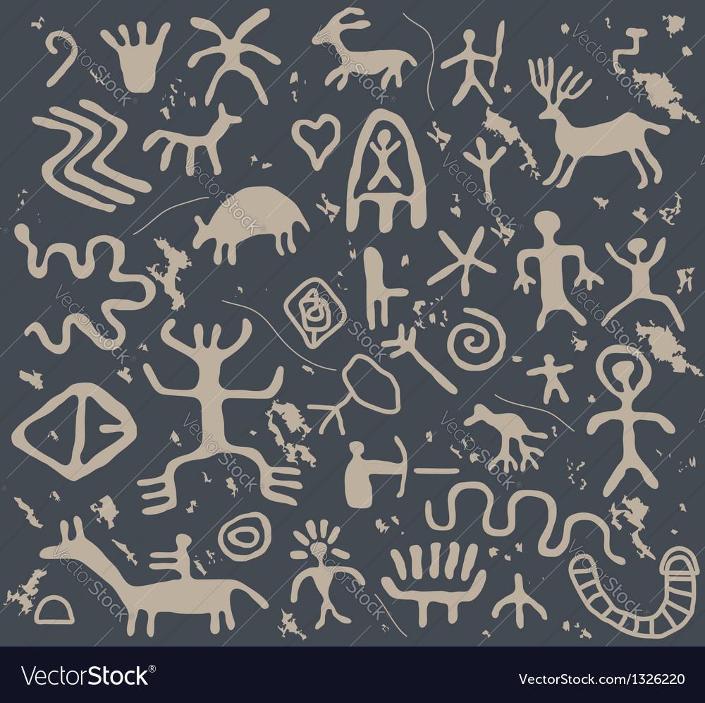Petroglyphs vector | Price: 1 Credit (USD $1)