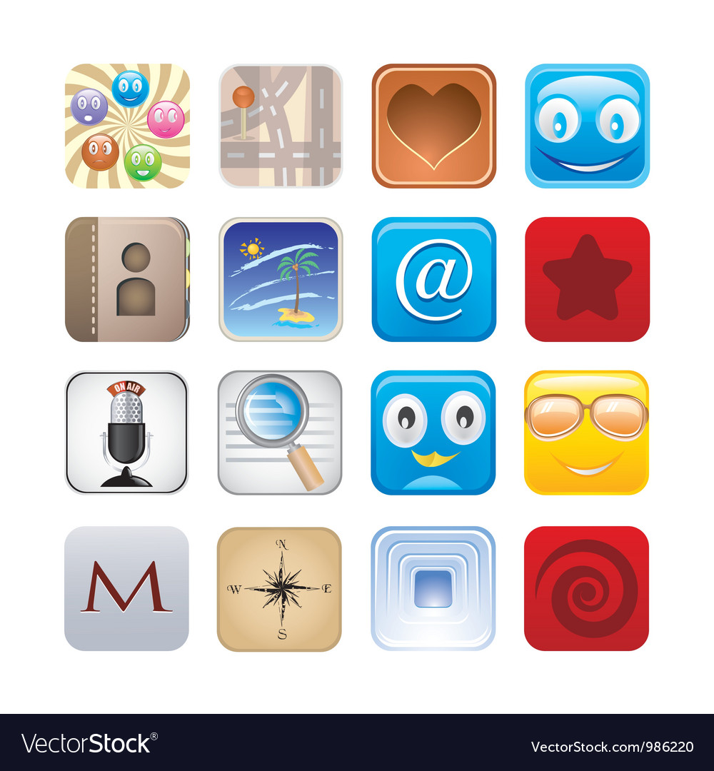 Social apps vector | Price: 3 Credit (USD $3)