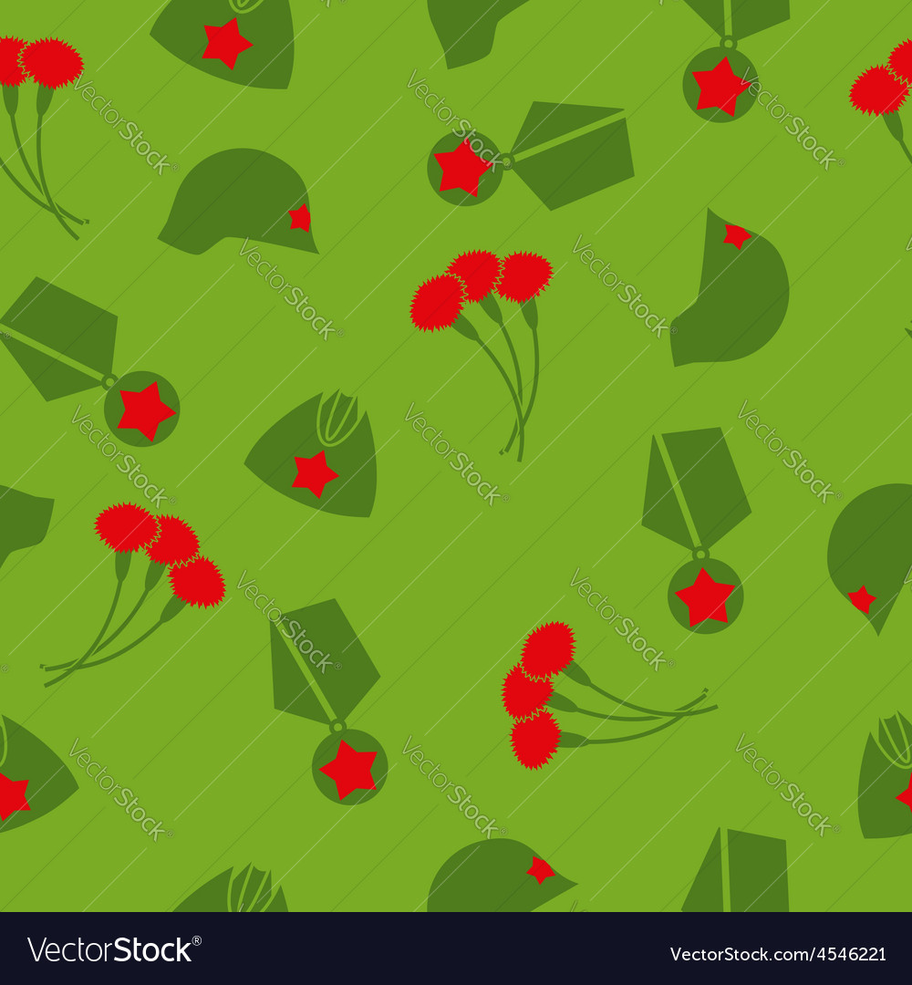 9 may victory day seamless pattern background of vector | Price: 1 Credit (USD $1)