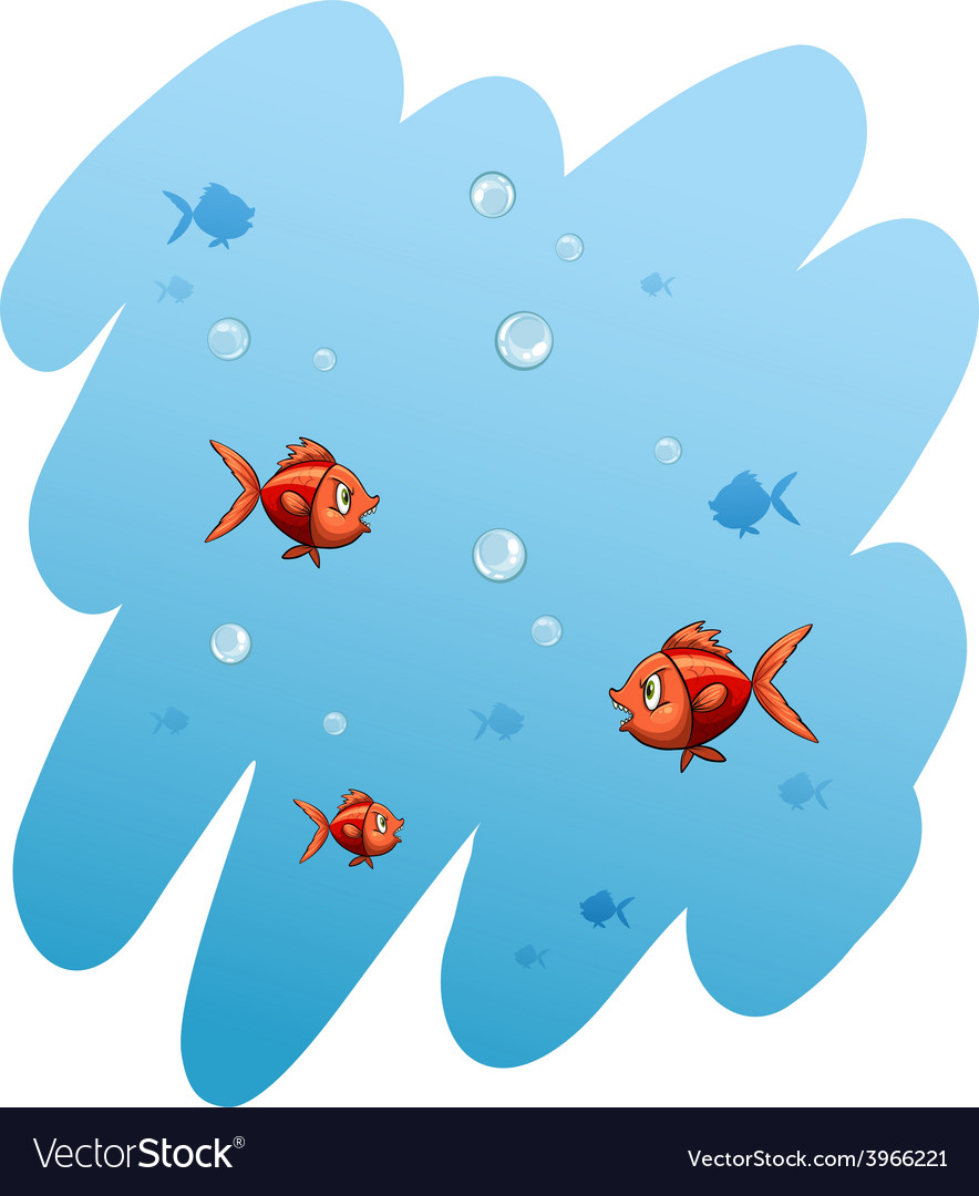 A school of fishes vector | Price: 1 Credit (USD $1)