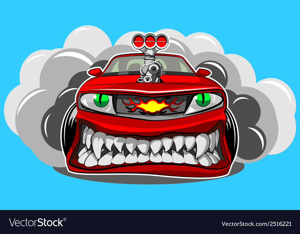 Angry car vector | Price: 1 Credit (USD $1)