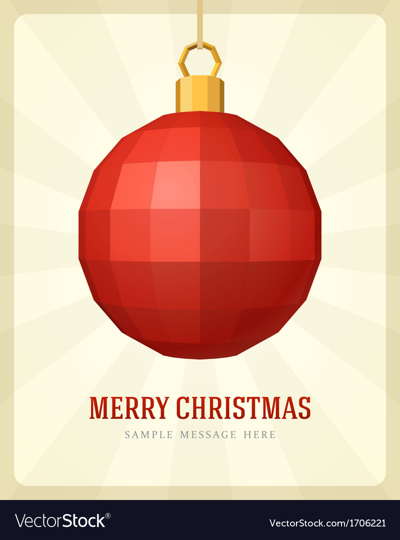 Christmas bauble background vector   Price: 1 Credit (USD $1)