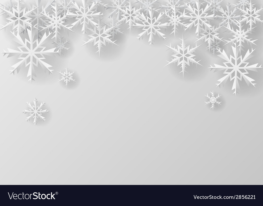 Christmas snowflake on paper vector   Price: 1 Credit (USD $1)