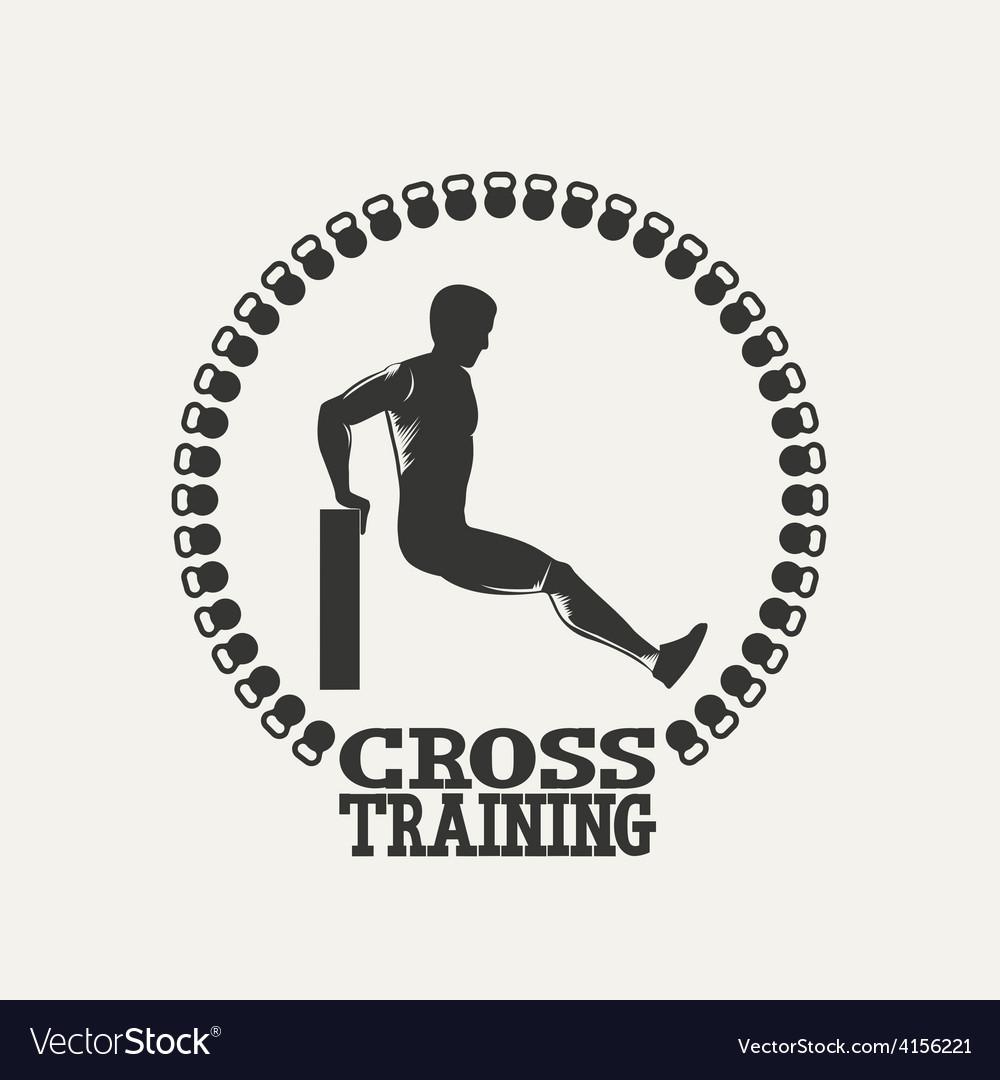 Cross training man silhouet 2 logo vector   Price: 1 Credit (USD $1)