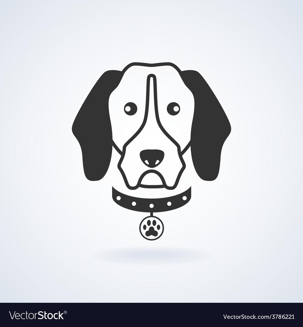 Dog icon vector | Price: 1 Credit (USD $1)