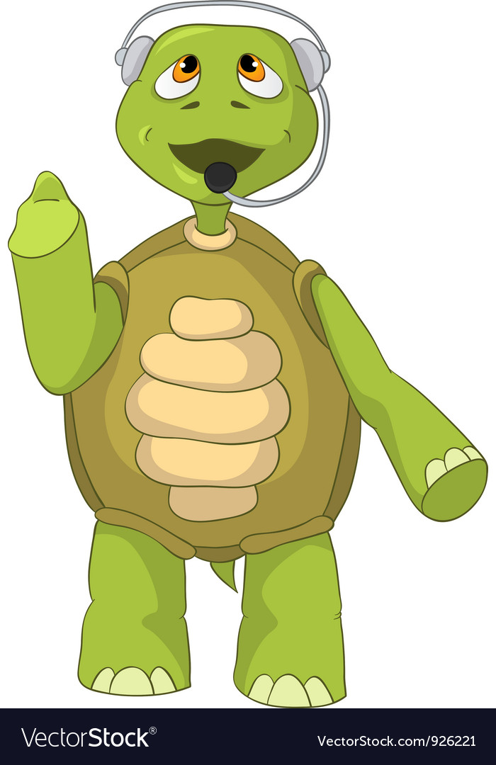 Funny turtle comunication vector | Price: 3 Credit (USD $3)