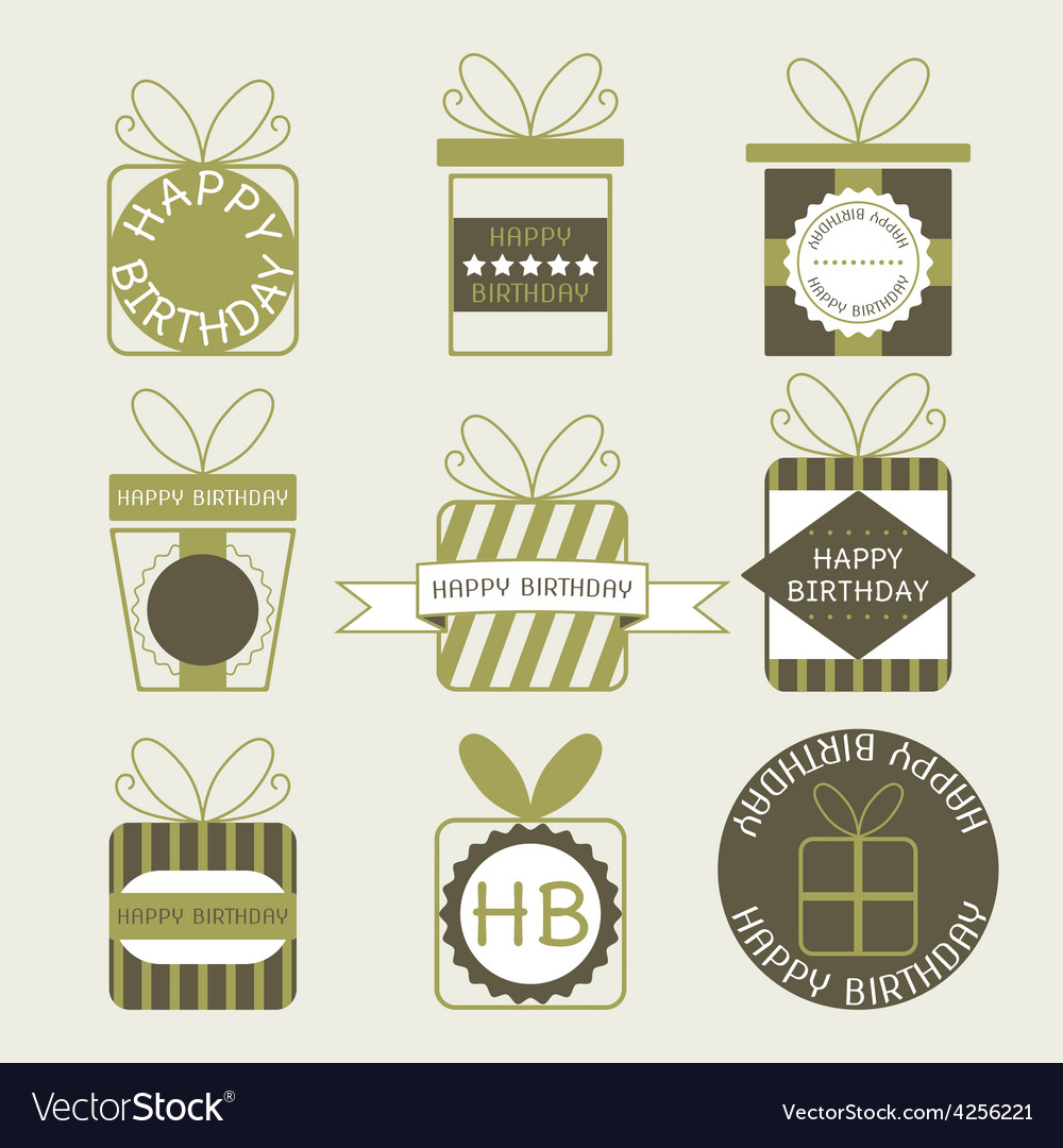 Gift boxes icons festive set vector | Price: 1 Credit (USD $1)