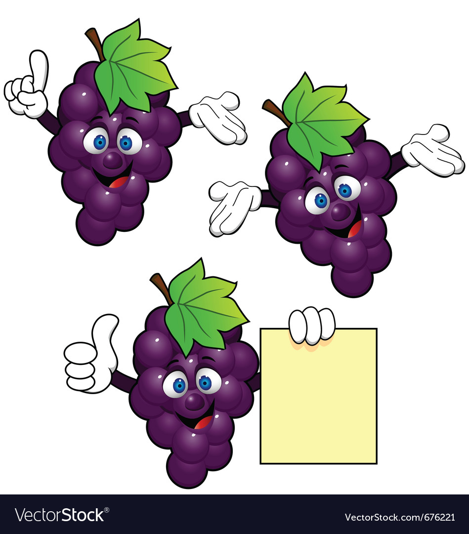 Grape cartoon vector | Price: 1 Credit (USD $1)
