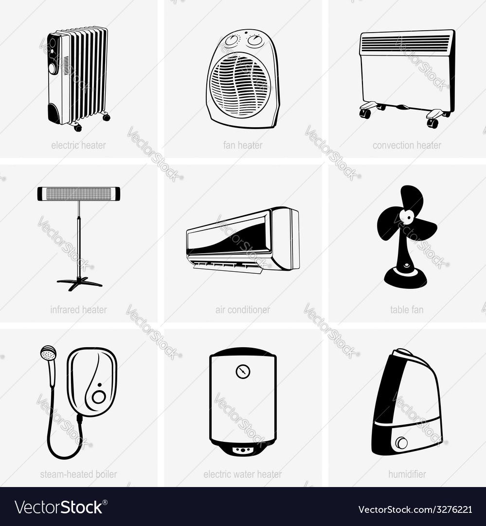 Heating and air conditioning vector | Price: 1 Credit (USD $1)