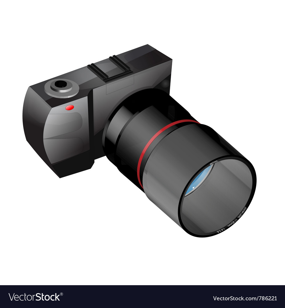 Photo camera in vector   Price: 1 Credit (USD $1)