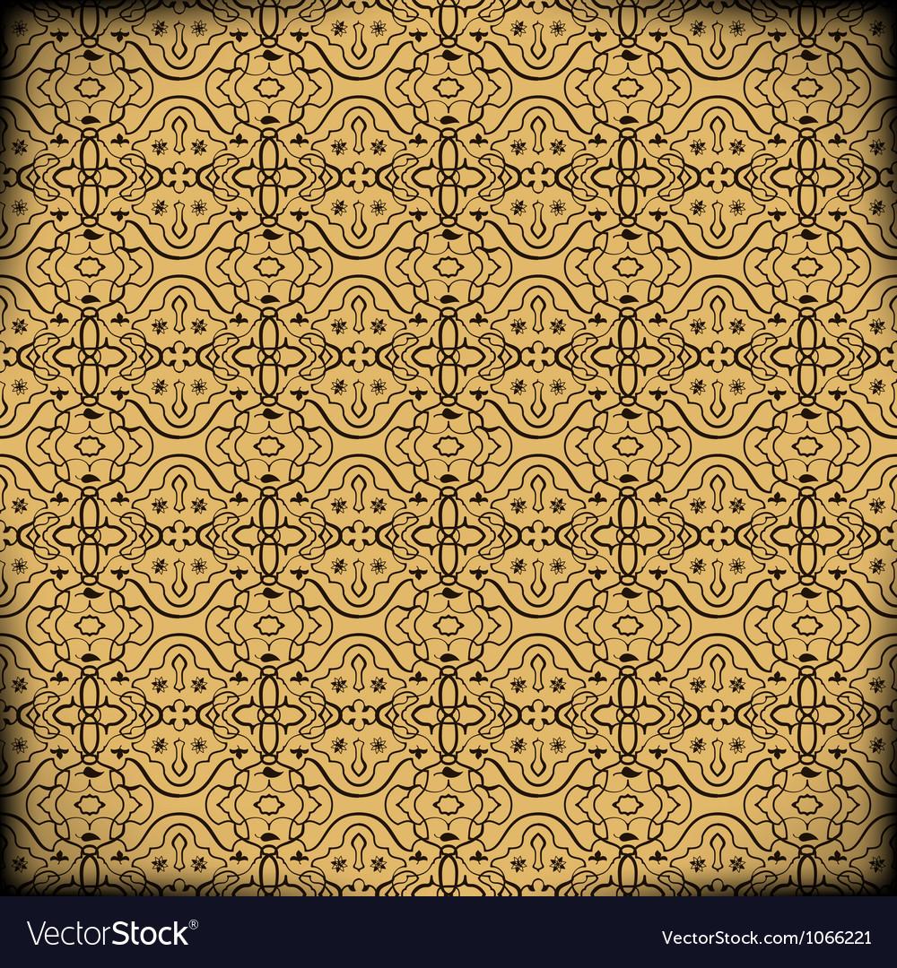 Seamless arabic ornament background vector | Price: 1 Credit (USD $1)