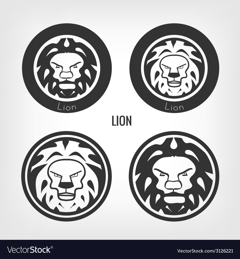 Set of lions vector | Price: 1 Credit (USD $1)