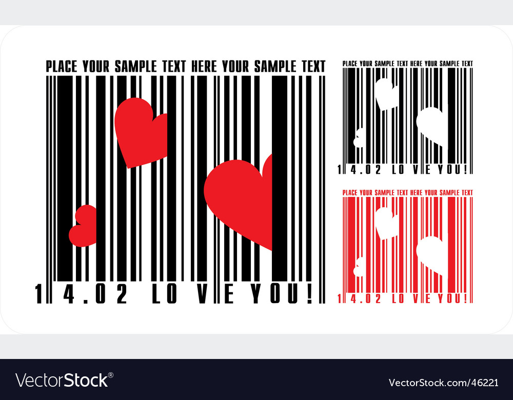 Valentines bar code vector | Price: 1 Credit (USD $1)