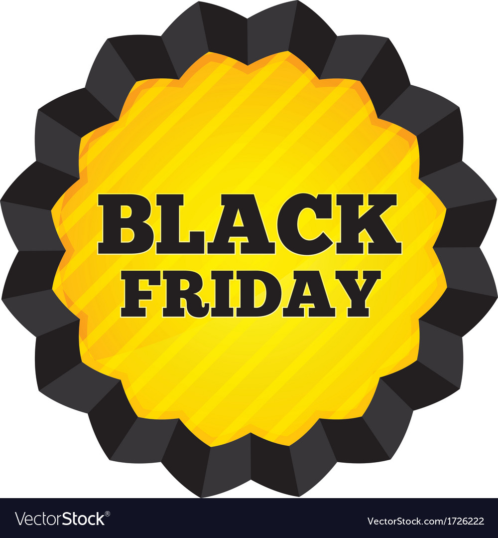 Black friday sale label on white background vector | Price: 1 Credit (USD $1)