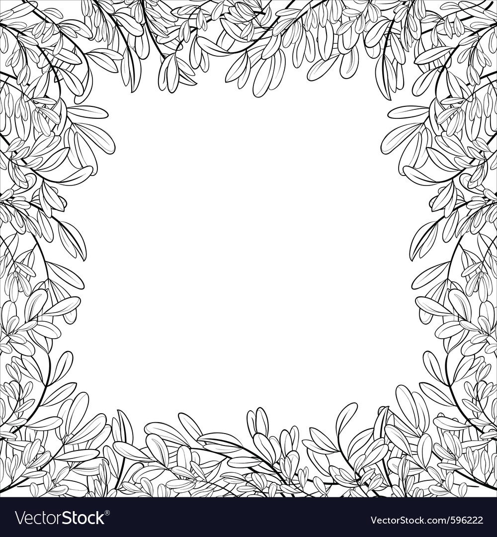 Border of leaves vector | Price: 1 Credit (USD $1)