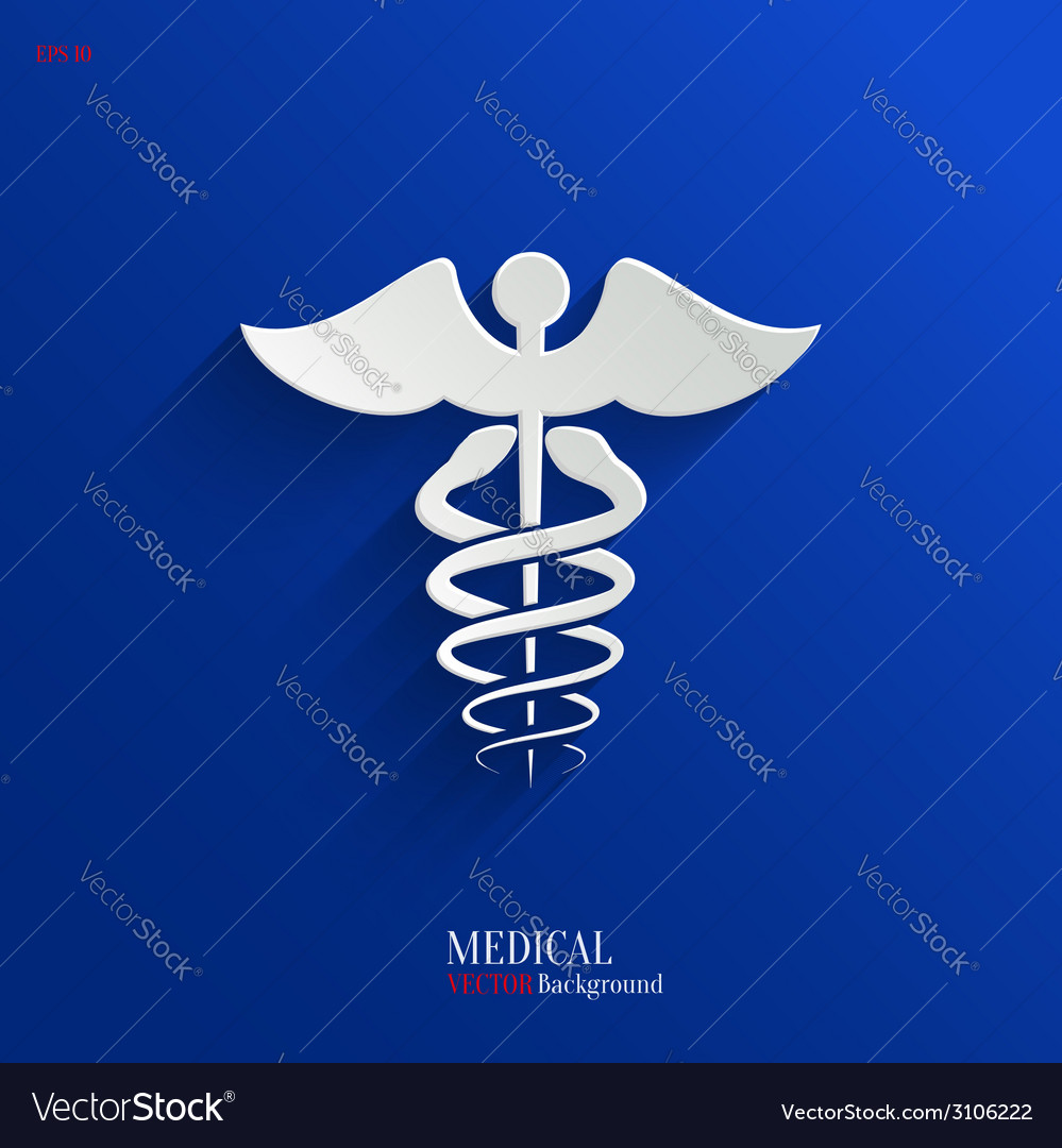 Caduceus medical symbol- backgrond vector | Price: 1 Credit (USD $1)