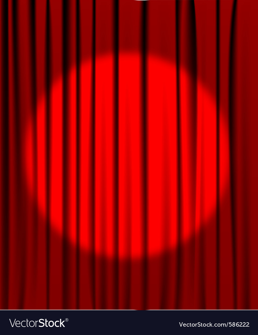 Curtain spotlight vector | Price: 1 Credit (USD $1)