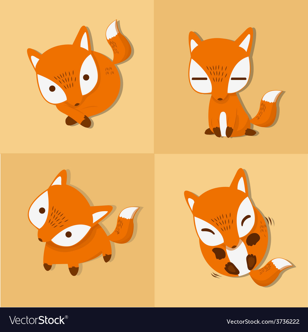 Fox four stance vector | Price: 3 Credit (USD $3)