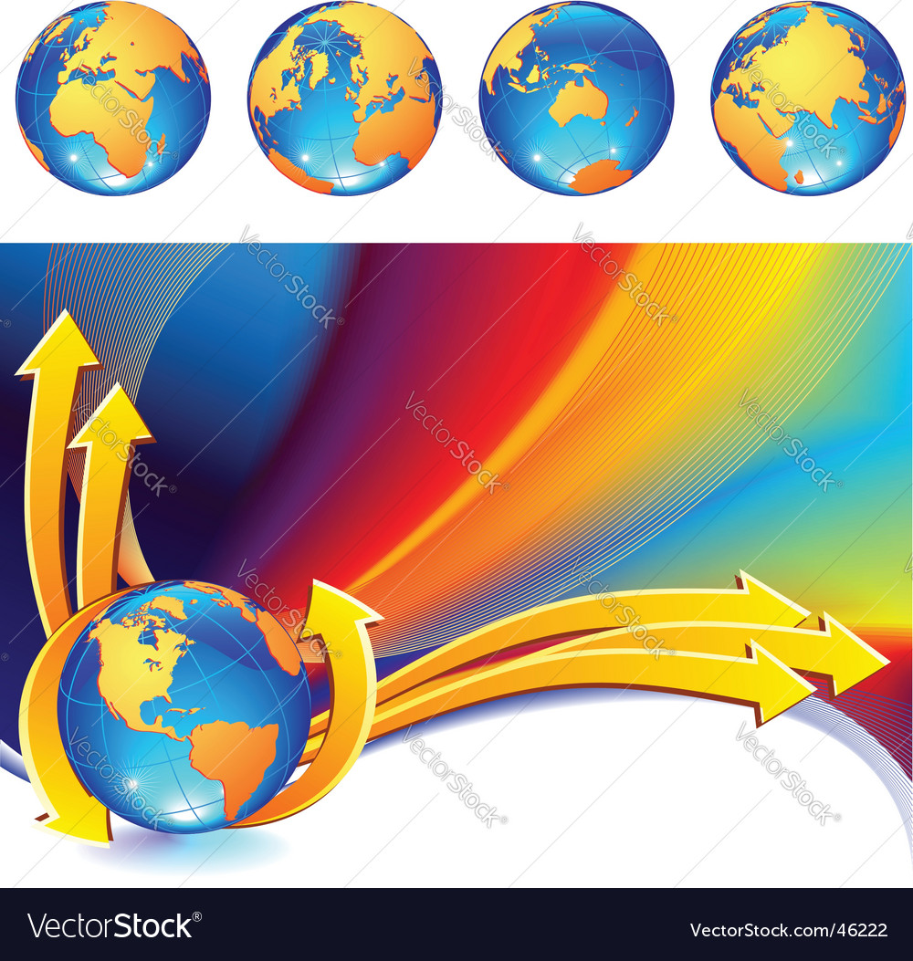 Globe background vector | Price: 1 Credit (USD $1)