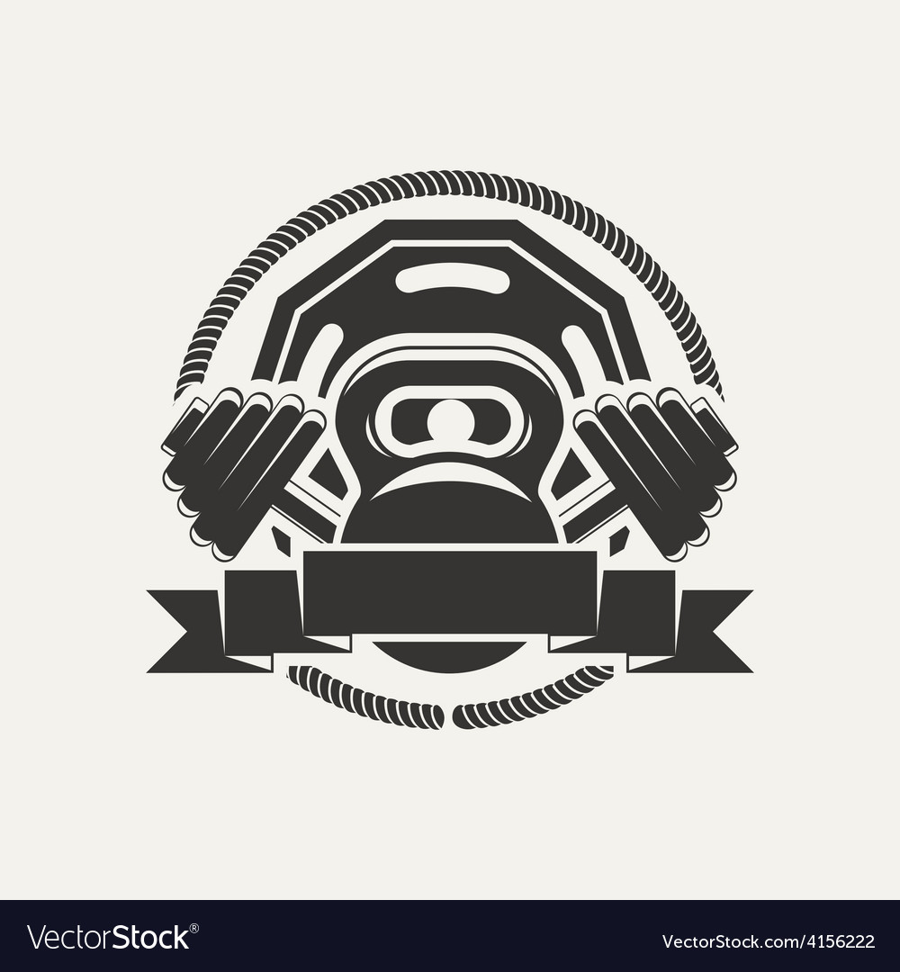 Kettlebell and dumbbell logo vector | Price: 1 Credit (USD $1)