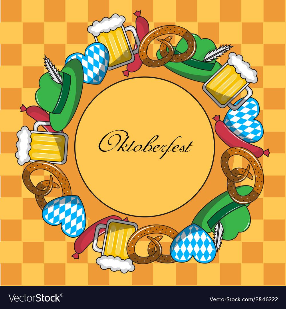 Oktoberfest frame vector | Price: 1 Credit (USD $1)