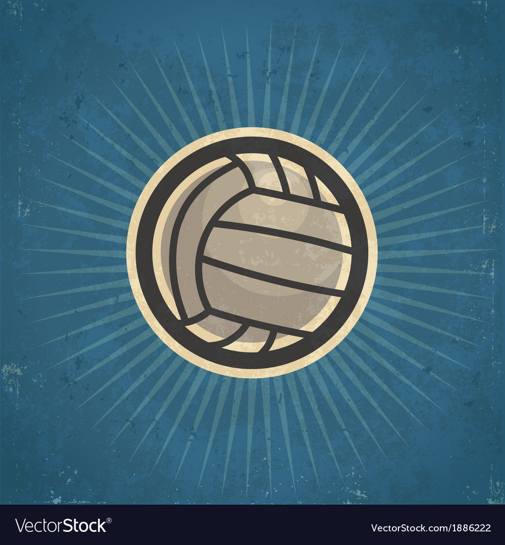Retro volleyball vector | Price: 1 Credit (USD $1)