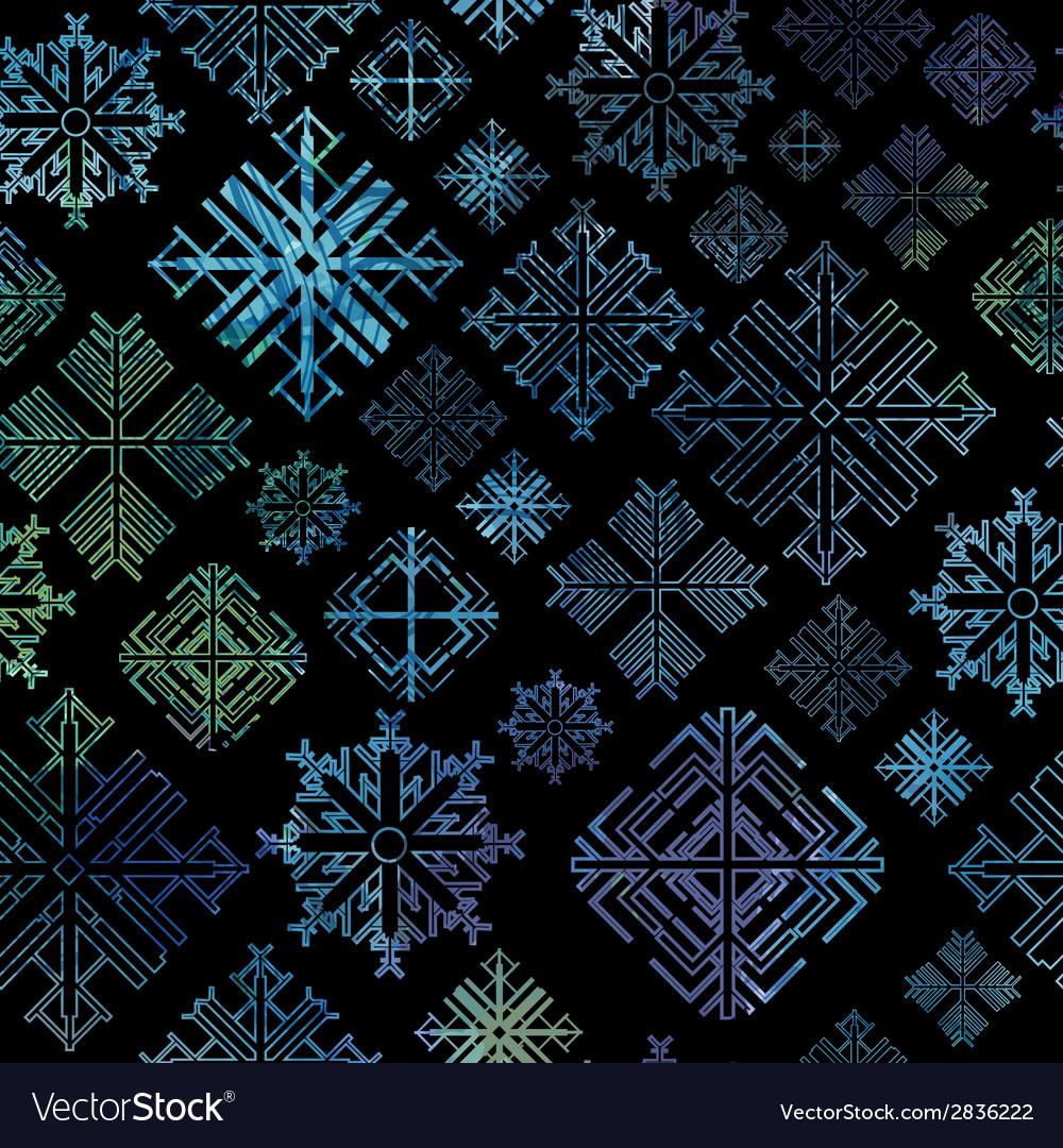 Seamless snowflake winter watercolor christmas bac vector   Price: 1 Credit (USD $1)