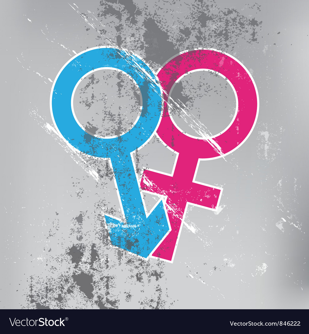Sexual symbol on grunge wall vector | Price: 1 Credit (USD $1)