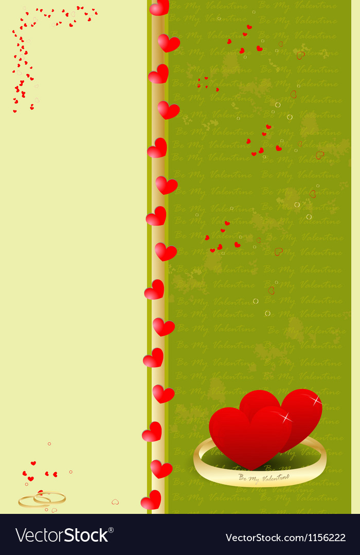 Template valentine greeting card vector | Price: 1 Credit (USD $1)