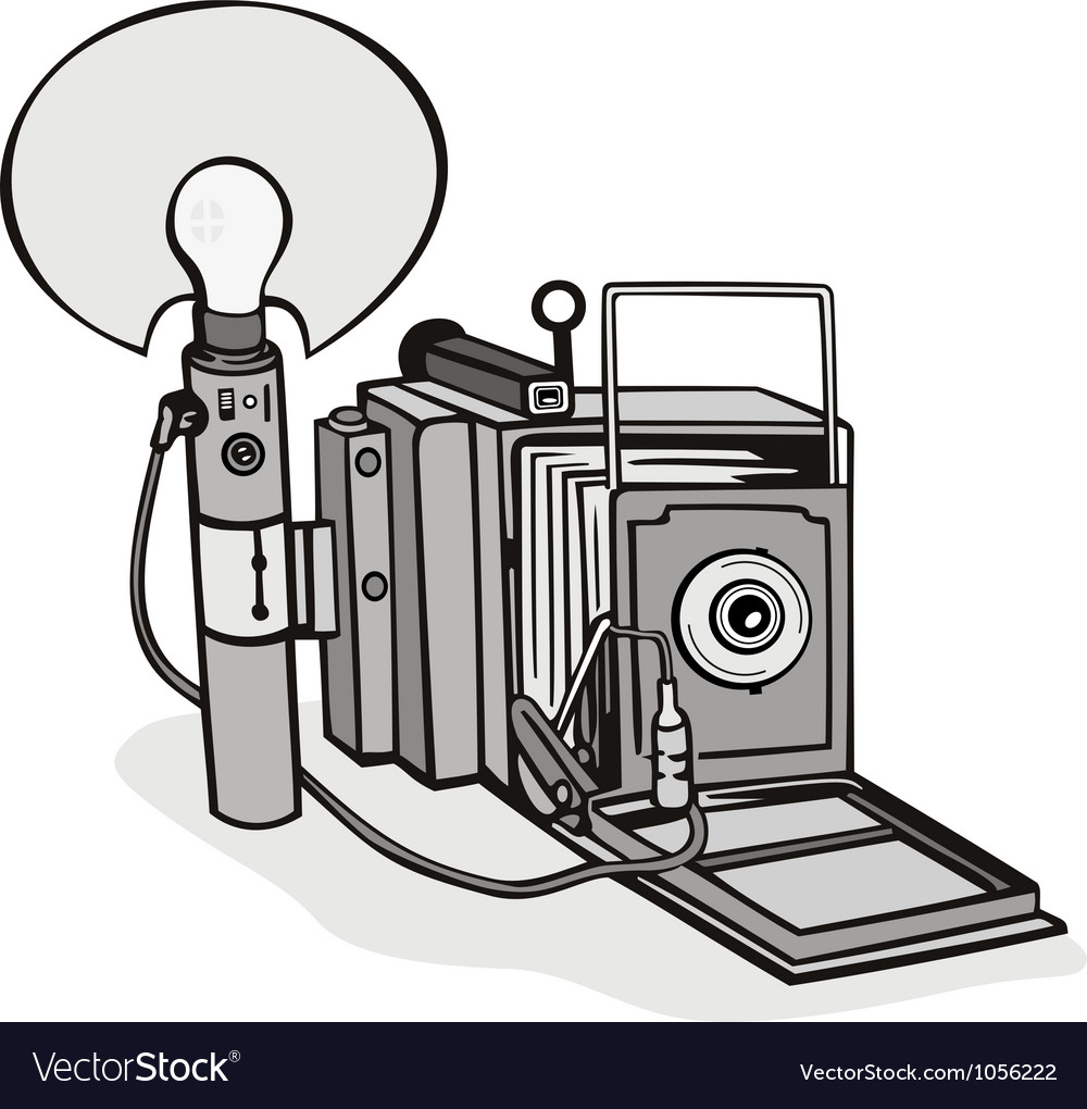 Vintage camera flash bulb vector | Price: 3 Credit (USD $3)