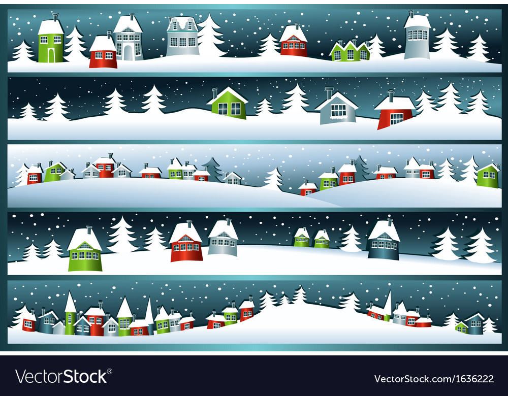 Winter banners vector | Price: 1 Credit (USD $1)