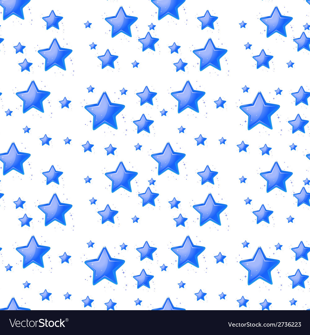 Blue stars background seamless vector | Price: 1 Credit (USD $1)