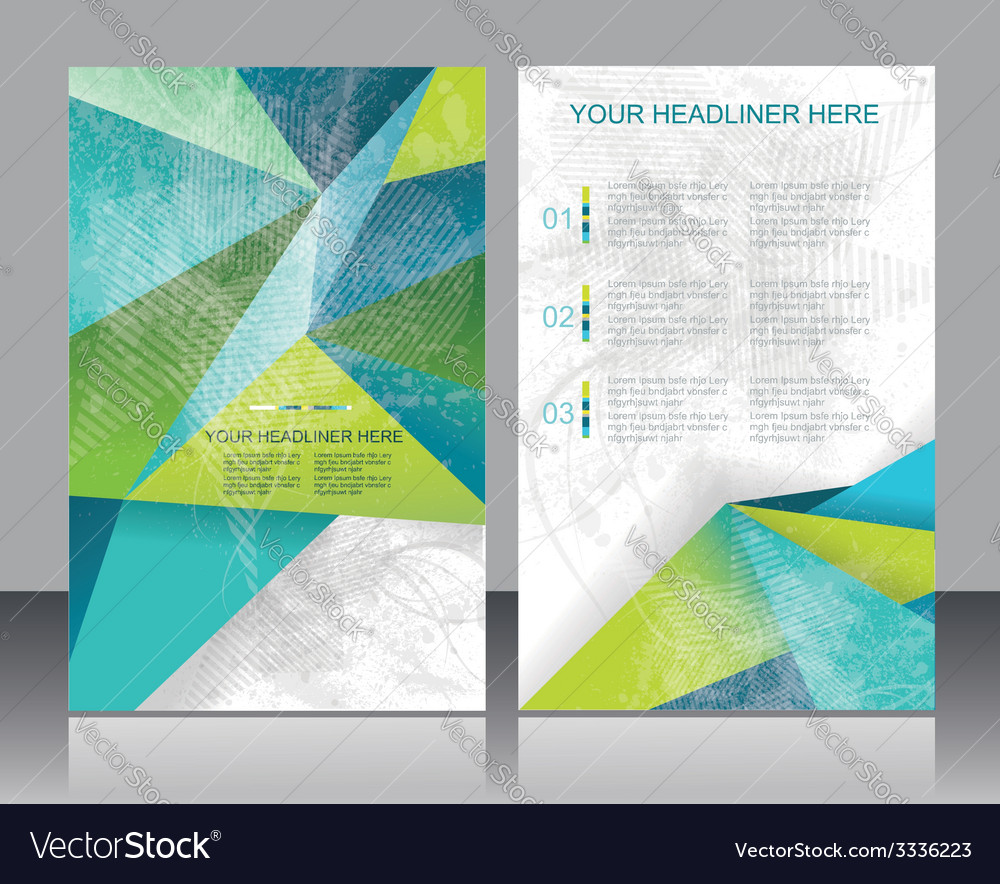 Brochure or flyer design with abstract geometrical vector | Price: 1 Credit (USD $1)