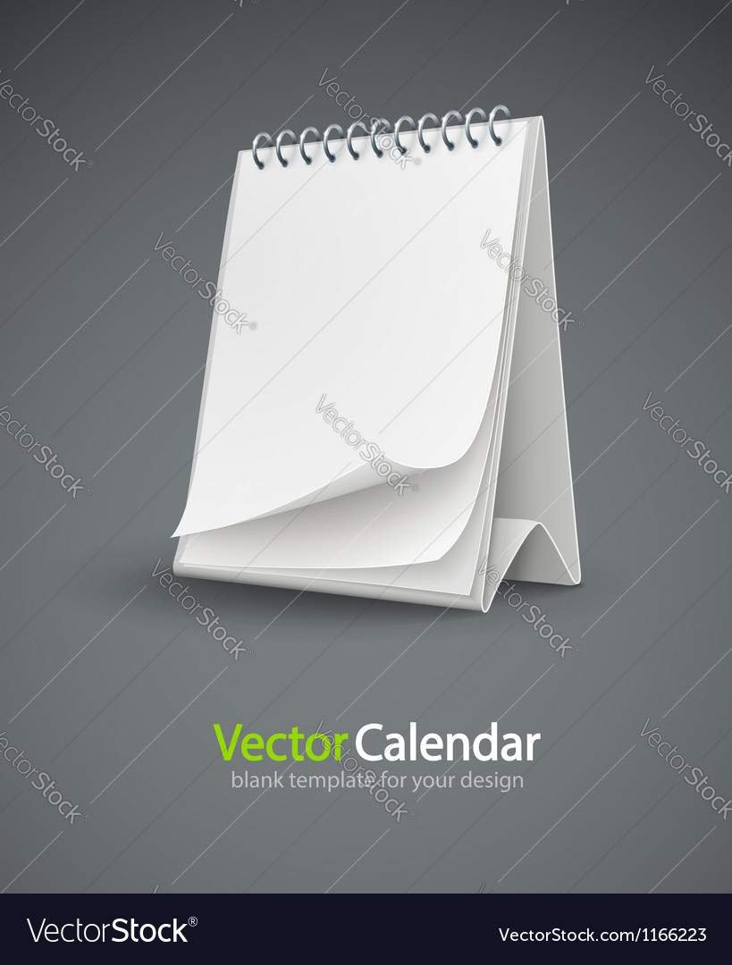 Calendar template with blank vector | Price: 3 Credit (USD $3)