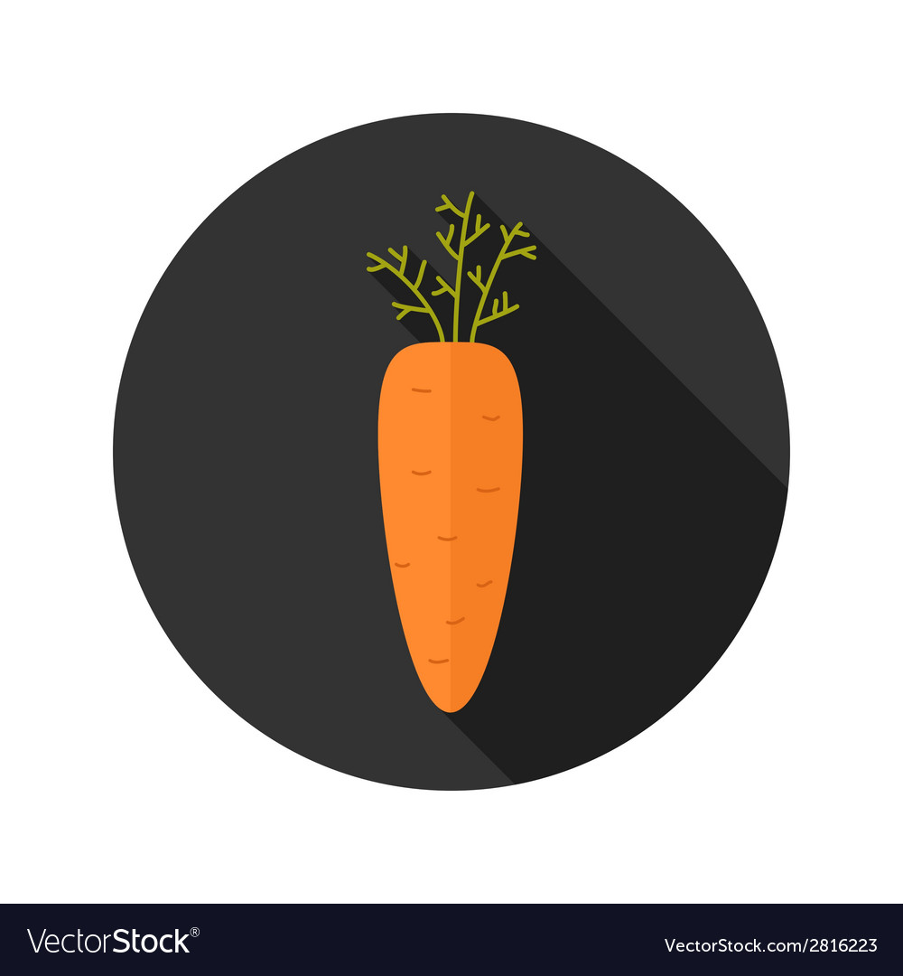 Carrot vegetable flat icon vector | Price: 1 Credit (USD $1)