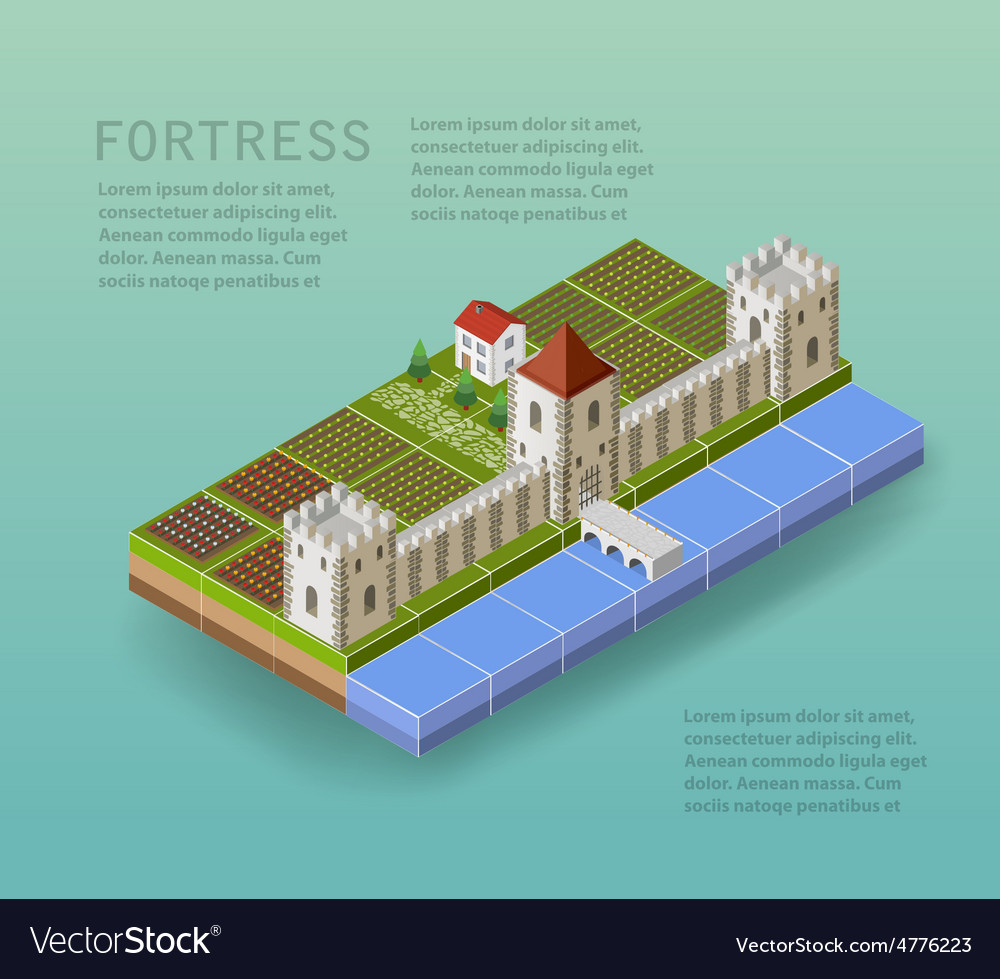 The fortress vector | Price: 1 Credit (USD $1)