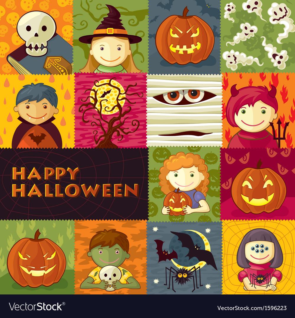 Halloween greeting card vector   Price: 1 Credit (USD $1)