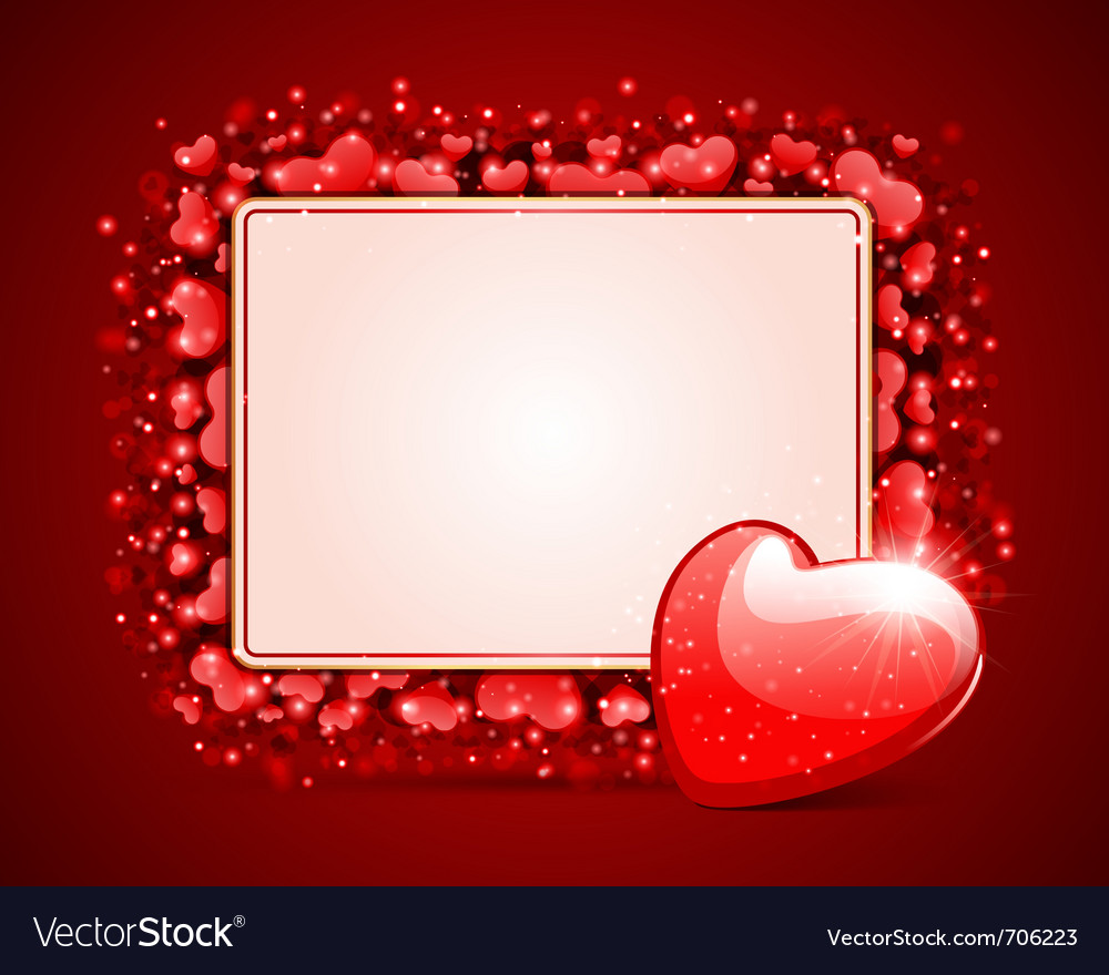Heart with card frame vector | Price: 1 Credit (USD $1)