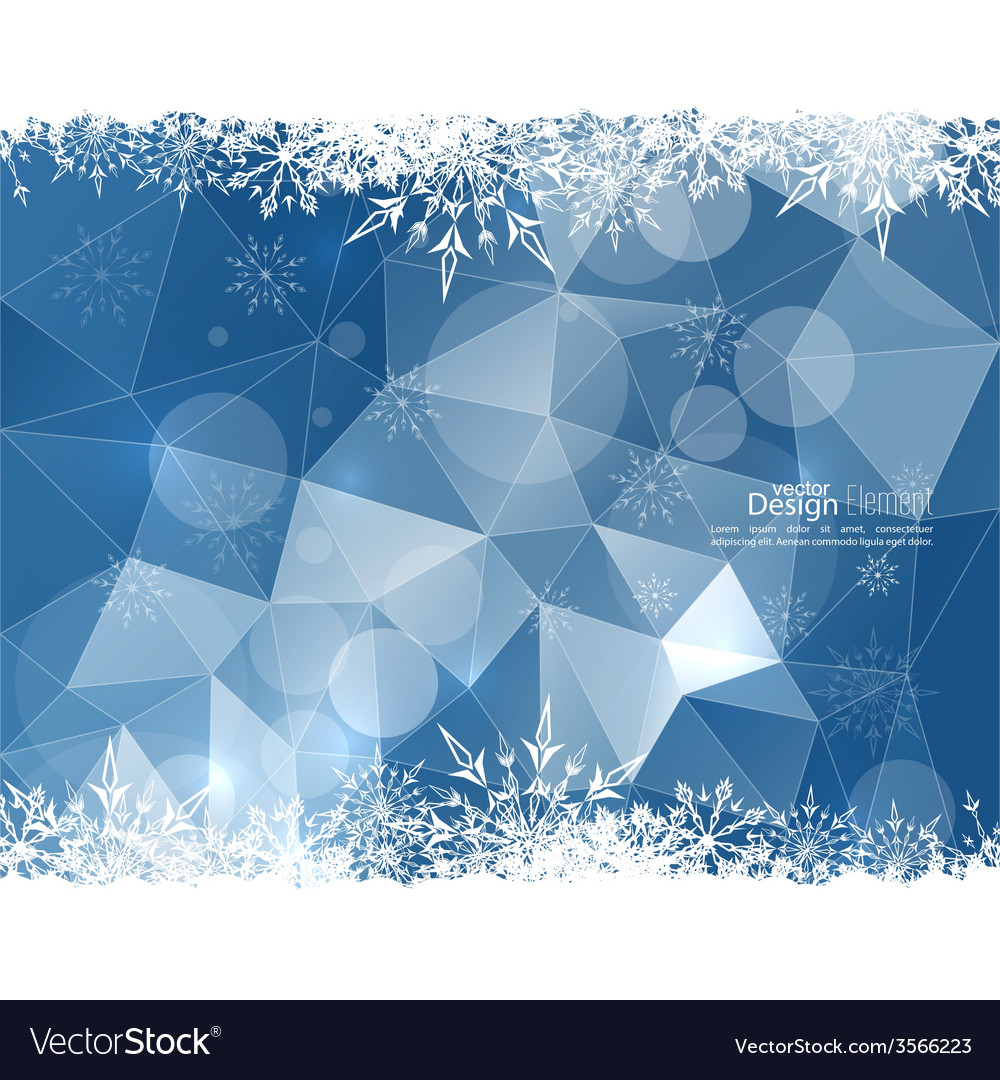 Modern winter abstract background vector   Price: 1 Credit (USD $1)