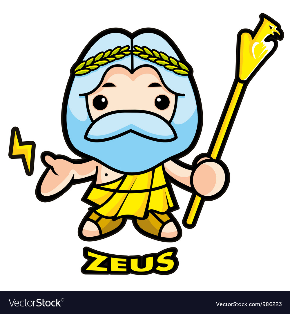 Of sky and thunder god zeus vector | Price: 1 Credit (USD $1)