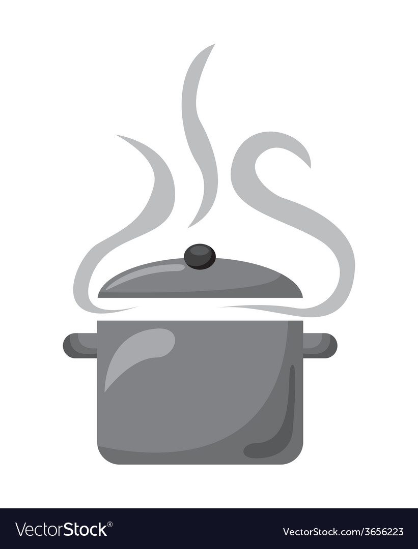 Pot cooking vector | Price: 1 Credit (USD $1)